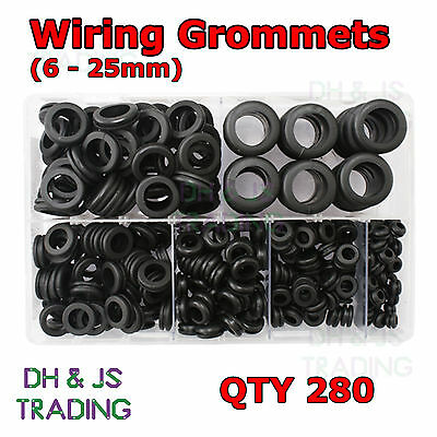 AB193 Assortment Box of Nylon Black P-Clips for Wire Cable Conduit 160 pc