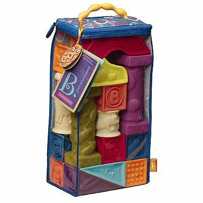 Elemenosqueeze chewable blocks for baby and toddlers by B. Battat