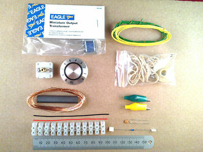 Crystal Set Radio Kit Of Electronic Parts / Diode Wireless Project ff