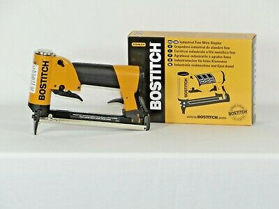 "Upholstery stapler, Bostitch 21697B air staple gun, 3/16"" crown, & 1bx staples"