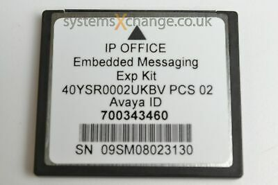 Avaya IP Office Embedded Messaging Voicemail Card 700343460 - Inc VAT & Del