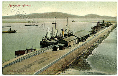 C1910 Pt Pu Postcard Shipping Townsville Harbour Willmott Stationers E80