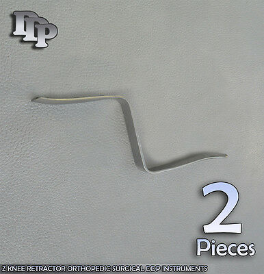 2 Pieces Of Z KNEE RETRACTOR ORTHOPEDIC SURGICAL DDP INSTRUMENTS