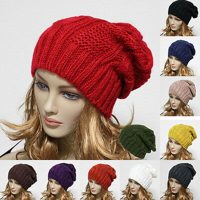 Knit Beanie Men's Women's Winter Oversize Hat Ski Slouchy Cap Chic Unisex New