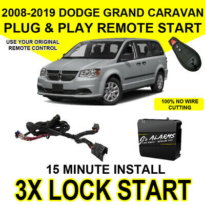 2008-2018 Dodge Grand Caravan  Remote Start Add On Factory Key Fob 3X Lock