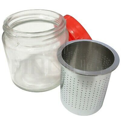 MEDIUM Steel Sieve Glass Jar For Cleaning Watch Parts or Items of Jewellery