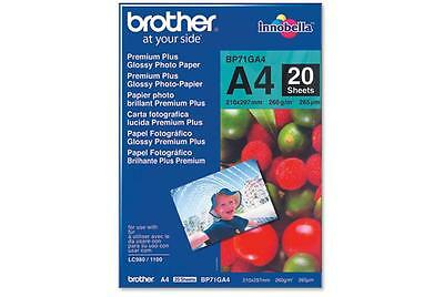 origin. Brother BP-71GA4 Photo Glossy Foto-Papier A4 260g InkJet Tinten 20 Blatt