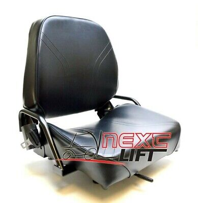 New Komatsu Style Folding Forklift Seat Fits Nissan Cat Clark Caterpillar Toyota