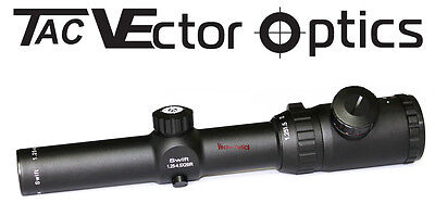 Vector Optics Swift 1.25-4.5x26IR Hunting Riflescope Etched Reticle Heavy Duty