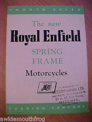 Royal Enfield 500 Twin & 350 Bullet 1949 Sales Folder