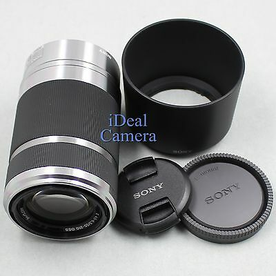 New Sony SEL55210 55-210mm f/4.5-6.3 E-Mount Lens with Hood for Sony Nex Camera
