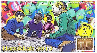 Jvc Cachets -2013 Hanukkah First Day Cover Fdc Holiday Topical #3