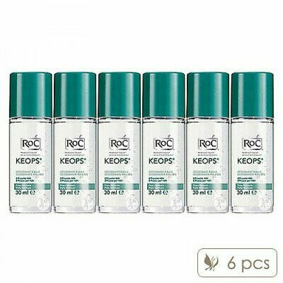 6 X RoC Keops Deodorant Roll-On 30ml x6= 180ml Odour Alcohol-Free 48HOURS#7941_6