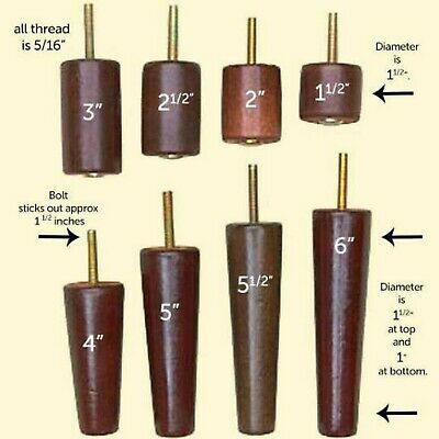 Furniture Legs for Sofa Chair Couch Ottoman Several Sizes Starting at $1.99