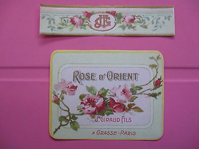 1 Ancienne Etiquette Parfum/rose D'orient/antique Perfume Label French Paris