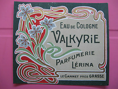 1 Ancienne Etiquette De Parfum Valkyrie/antique Perfume Label French Paris