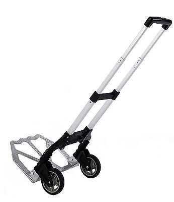 Compact Folding Aluminium Hand Truck Trolley Luggage Cart Foldable  With Wheel