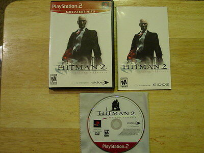Hitman 2: Silent Assassin Greatest Hits Playstation 2 PS2 System Complete Game