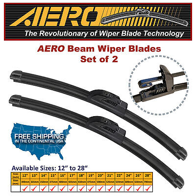 "AERO 22"" + 21"" OEM Quality Beam Windshield Wiper Blades (Set of 2)"