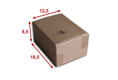 100 boîtes emballages cartons  n° 05A - 185x125x85 mm - simple cannelure