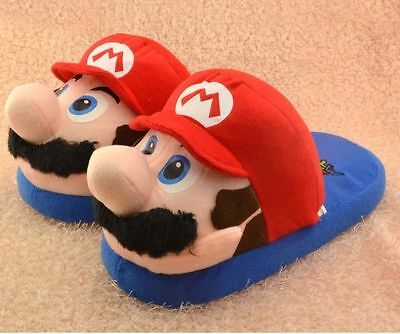 SUPER MARIO BROS. CIABATTE PANTOFOLE Slippers Shoes Peluche Plush Daisy Boo Wii