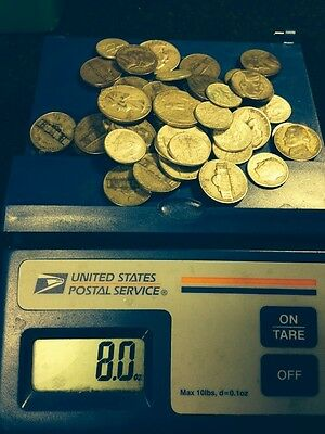 1/2 POUND DEAL OF THE YEAR! 8 Ounces U.S. Junk Silver Coin  Silver Pre 65 ONE 1