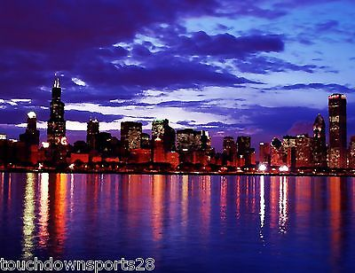 Chicago Skyline Windy City Art Photo CANVAS Painting Print 11x14 058