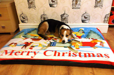Christmas Design EXTRA LARGE SPARE COVER FOR DOG BEDS