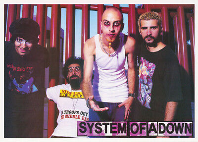 Poster: Music : System Of A Down - All 4 Posed -  Free Shipping !      Rp75 L