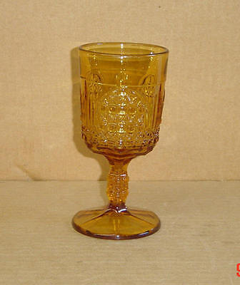 EAPG AMBER CATHEDRAL ORION GOBLET BRYCE 1891