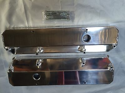 Small Block 318 340 360 Chrysler Valiant Fabricated Alloy Valve Covers