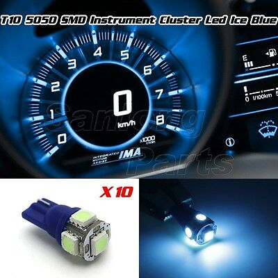 10x T10 Wedge Ice Blue Speedometer Instrument Cluster 5050SMD LED 194 Light Bulb