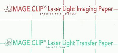 """LASER TRANSFER FOR WHITE FABRIC: """"IMAGE CLIP LIGHT"""" 8.5""""x11"""" (100ct each/2 sets)"""