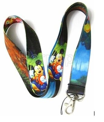 New Lot 10 pcs Disney leaves Mickey Mobile Phone LANYARD Neck Strap Charms
