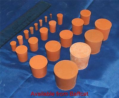 33mm Solid Red Rubber Stopper Bung Laboratory Sci NEW