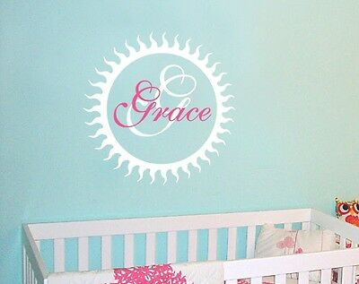 Personalized Monogram Decal Baby Nursery Custom Wall Decor Wall Art Mural AM010