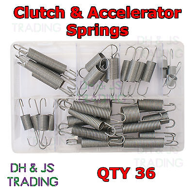 Assorted Box of Clutch and Accelerator Springs (10 Most Popular) Qty 36