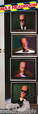 Door Poster :tv:animation: Max Headroom -  Free Shipping !   #d33-20    Lp57 Q