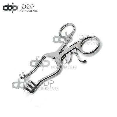 Weitlaner Retractor 4.5 BLUNT 2x3 Prong Surgical ENT Veterinary DDP Instruments