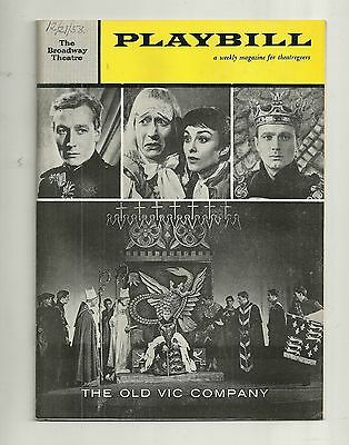 Playbill The Old Vic Company Broadway Theatre Dec 1958 FREE SHIPPING
