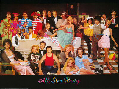 Poster: Movie/tv Stars : All Star Party  -  Free Shipping      #3349   Rw21 H