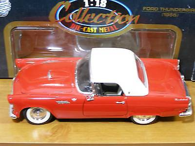 ROAD TOUGH FORD THUNDERBIRD 1955 DIE-CAST METAL-1:18-BOXED