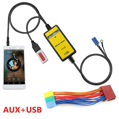 For Audi Car Mp3 USB&AUX Interface In Adapter 8Pin USB Aux-in Adapter