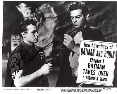 "JOHN DUNCAN ""ROBIN"" Autographed 8 X 10 PHOTO BATMAN & ROBIN SERIES 1949"