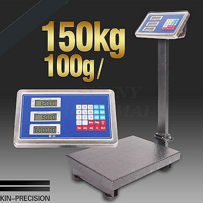 1x New 100g/150kg Electronic Computing Platform Digital Scale Weight Shop Postal