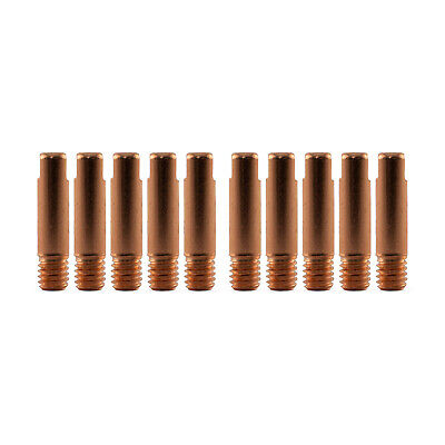 MIG Contact Tips for ALUMINIUM - 1.2mm Binzel Style - 10 pack - M6 x 6mm x 1.2mm