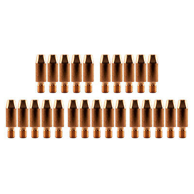 MIG Contact Tips - 1.0mm Binzel Style - 25 pack - M6 x 8mm x 1.0mm - Parweld