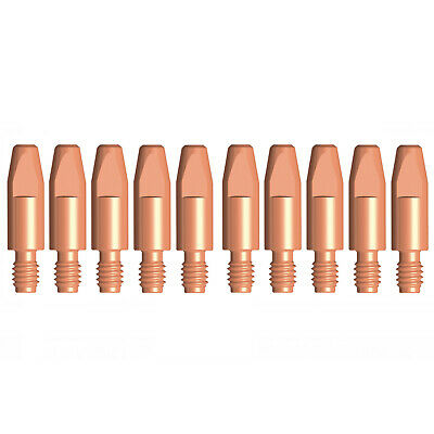 MIG Contact Tips CHROMIUM - 1.2mm Binzel Style - 10 pack - M6 x 8mm x 1.2mm