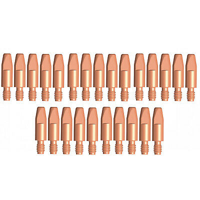 MIG Contact Tips CHROMIUM - 1.6mm Binzel Style - 25 pack - M6 x 8mm x 1.6mm