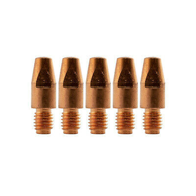 MIG Contact Tips - 0.9mm Binzel Style - 5 pack - M8 x 10mm x 0.9mm - Parweld